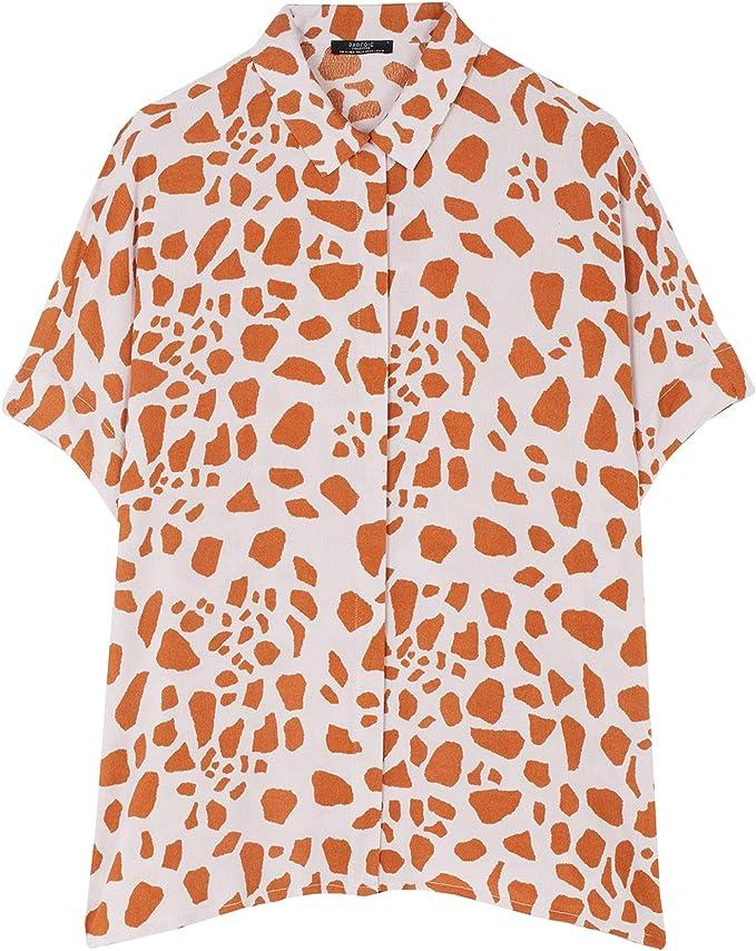 Parfois - Camisa Salmon - Mujeres - Tallas Única - Rosa: Amazon.es: Ropa y accesorios