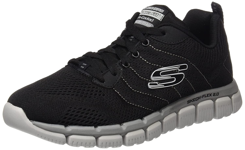Skechers Herren Skech-Flex 2.0 Outdoor Fitnessschuhe schwarz grau 43 EU