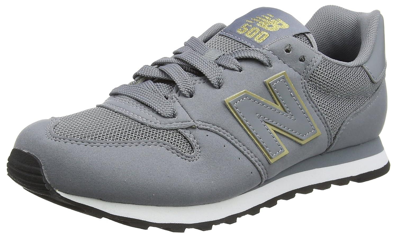 New Balance 500, Zapatillas para Mujer 37 EU|Gris (Grey/Gold Gkg)