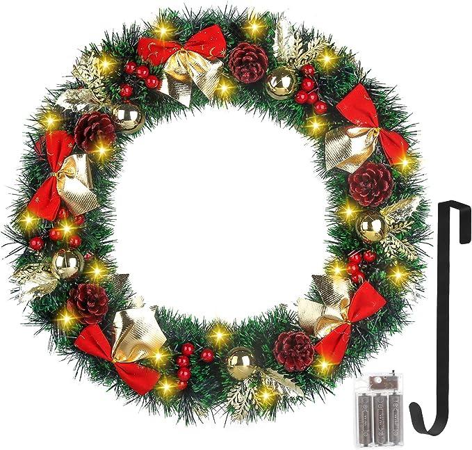 Christmas Wreath \u201cSanta Stop Here First\u201d