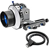 Morros Follow Focus Finder F4 for 15mm Rod Support DSLR and video cameras (F4 With Two Hard Stops)