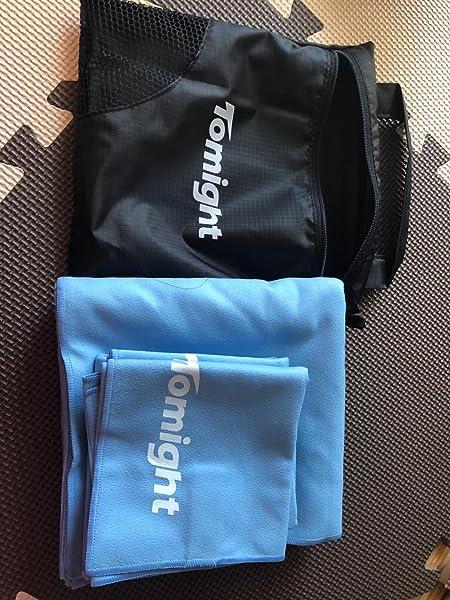 スポーツタオル-Tomight-マイクロファイバー製-超やわらかい-旅行・水泳・スポーツ・家庭用
