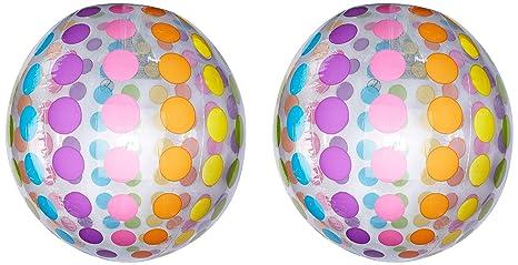 Intex 59065NP - Pelota hinchable gigante círculos de diámetro 107 cm, 3 años