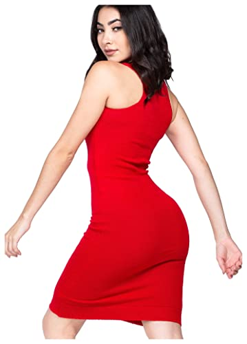 KD dance New York Sexy Knee High Midi Sweater Dress Racer Back Office Casual Booty Dress Serious