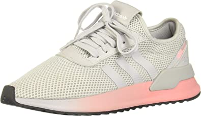 Grey/Pink Low Top Trainers Shoes