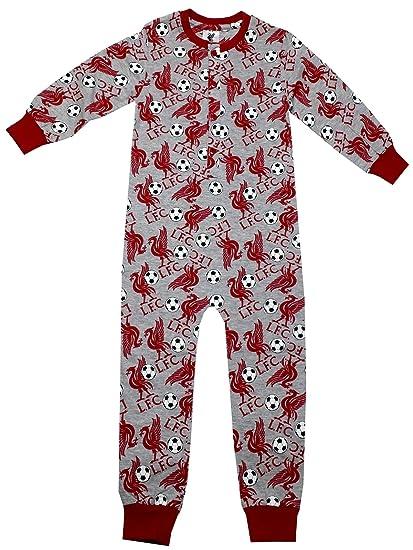 Liverpool FC - Pijama dos piezas - para niño gris gris