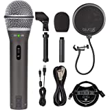 Samson Q2U USB XLR Dynamic Microphone for Windows, Mac, iOS Recording and Podcasting Bundle with Blucoil Pop Filter Windscree
