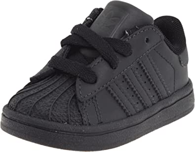 meet 2f41b 0cbbc adidas Originals Superstar 2 Sneaker (Infant Toddler),Black Black,4