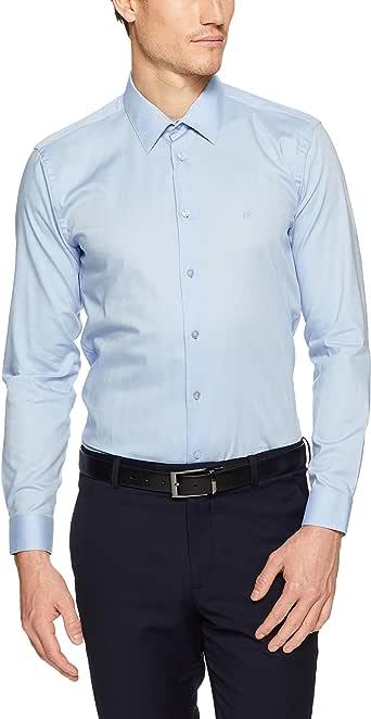CALVIN KLEIN Extreme Slim Fit Business Shirt, Dark Purple, 42