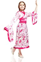 Kids Girls Asian Oriental Princess Dancer Geisha Lady Outfit Costume & Dress Up