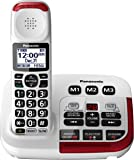 Panasonic KX-TGM420W Amplified Cordless Phone with Digital Answering Machine, 1 Handset , White