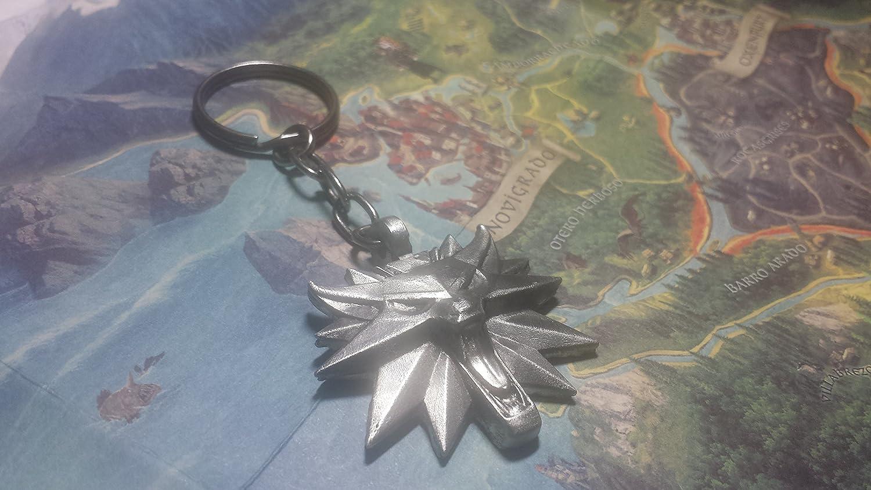 The Witcher llavero con muñeca Medallion (Artisan hecho a ...