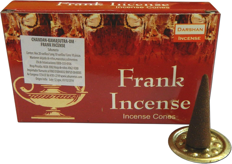 10 Frank Incense conos conos de incienso aroma 1 caja Incienso ...