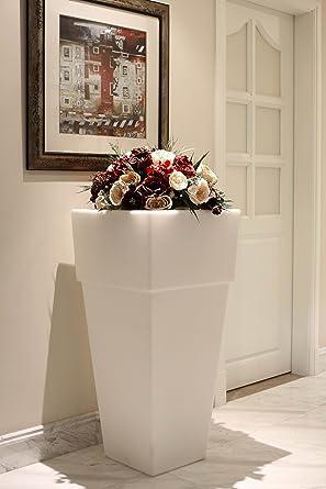 Blumenkübel Pflanzkübel Blumentopf LED 105 Cm Hoch Riesig XXL Für Innen Und  Außen, Garten Terrasse