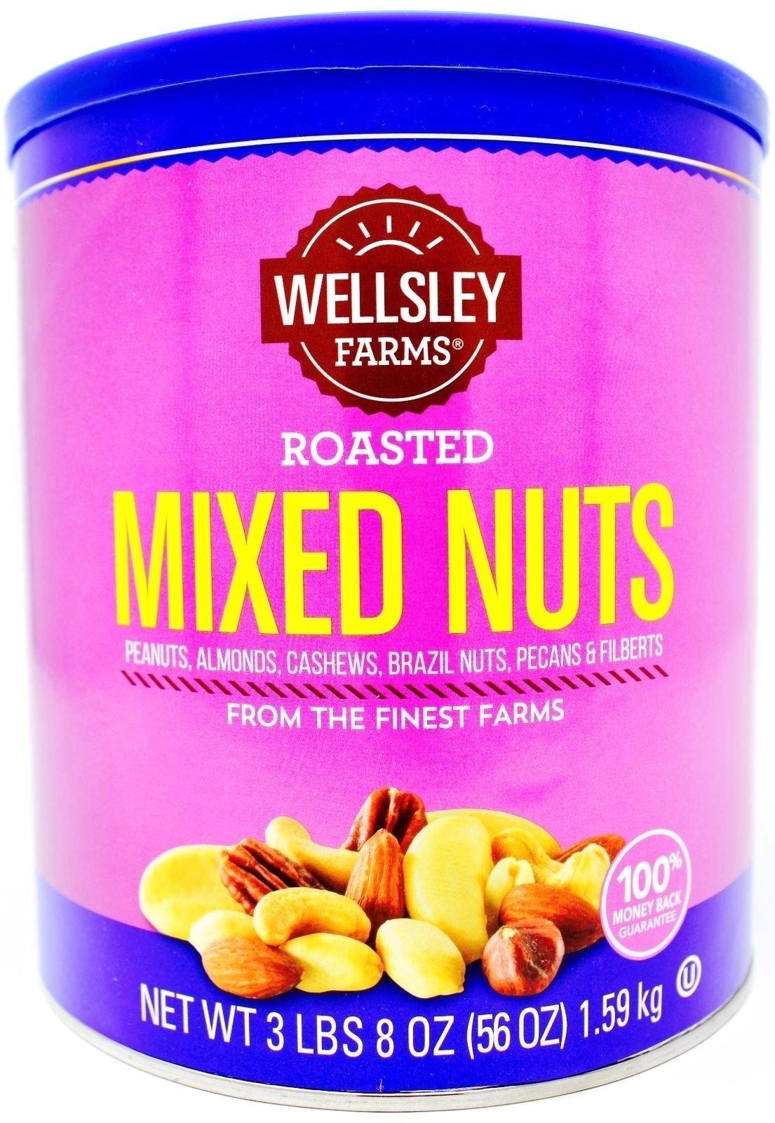Wellsley Farms Roasted Mixed Nuts, 56 OZ