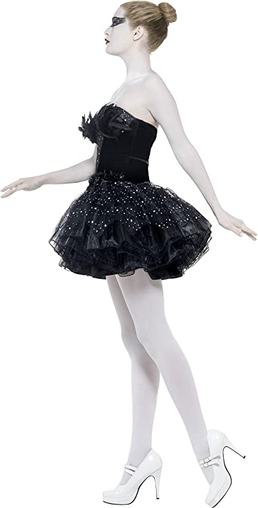 Smiffys-27313L Black Swan Disfraz de Cisne Negro gótico, con ...