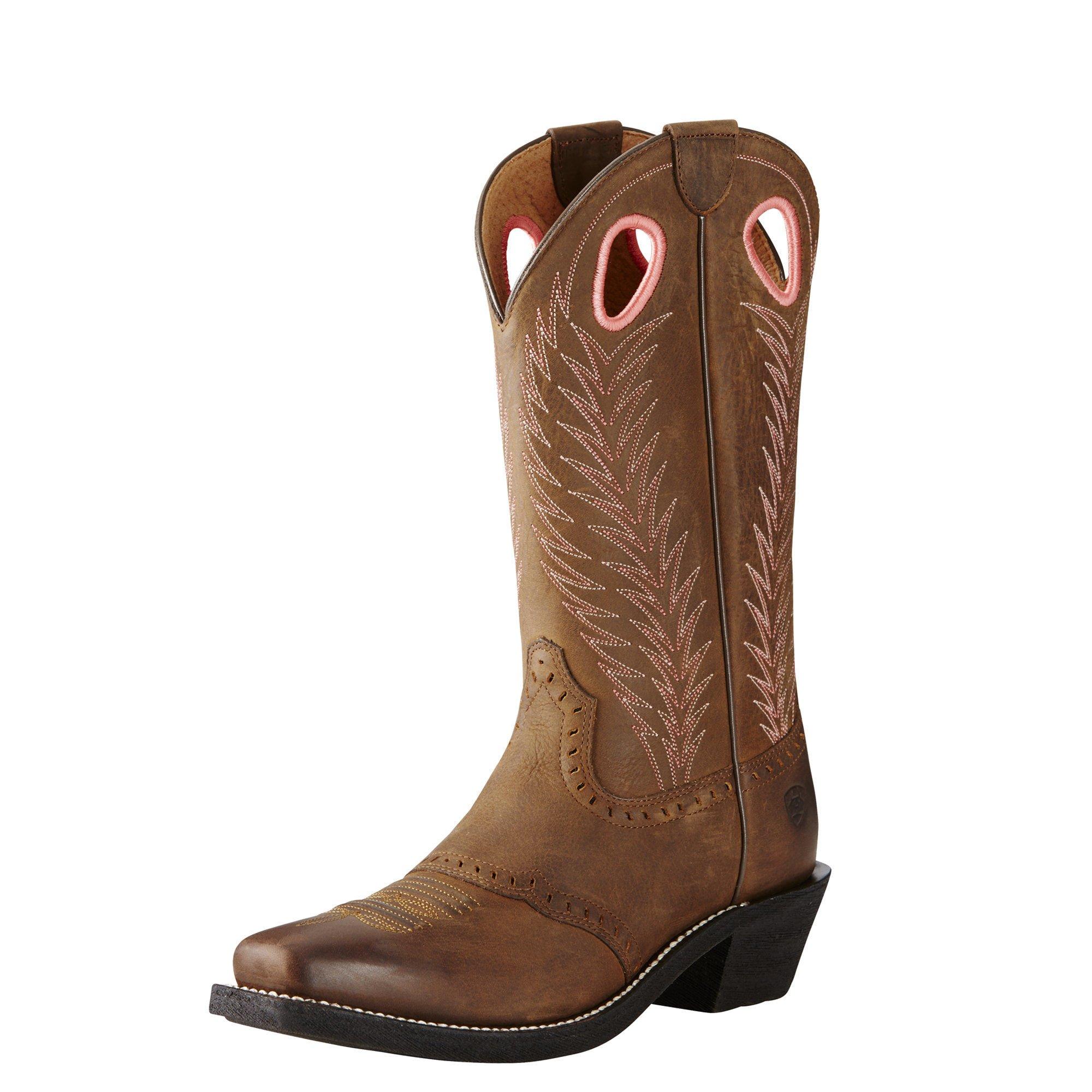 Ariat Women's Heritage Rancher Western Cowboy Boot, Mustang Mud, 6.5 B US