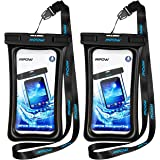 Mpow Floating Waterproof Case, IPX8 Waterproof Phone Case Underwater New Type TPU Dry Bag for iPhone X/8/8plus/7/7plus/6s/6/6s plus Samsung galaxy s8/s7 LG V20 Google Pixel HTC10 (2-Pack)