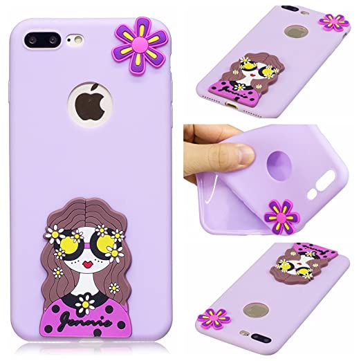 2 opinioni per Cover iPhone 7 plus Custodia iPhone 8 plus Silicone Anfire Morbido Flessibile