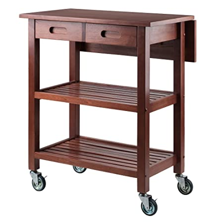 Winsome Wood 94734-WW Jonathan Kitchen Walnut