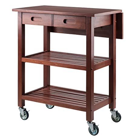 Linon home decor products inc. Kitchen cart walnut.