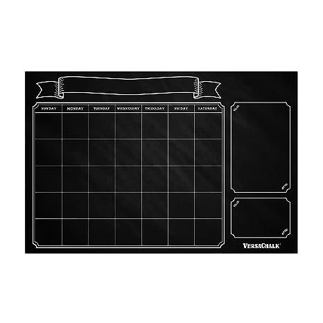 Amazon Com Large Erasable Chalkboard Calendar Wall Decal Sticker