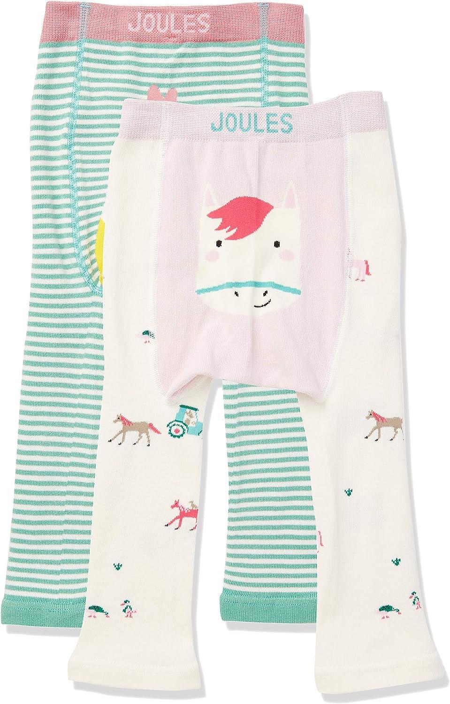 Multi Chick Horse Multchkhrs 2er Pack Joules Baby-M/ädchen Lively Leggings 0-6 Monate Multicolour