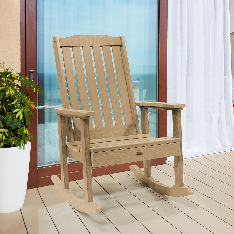 highwood AD-RKCH1-TAU Lehigh Rocking Chair, Tuscan Taupe