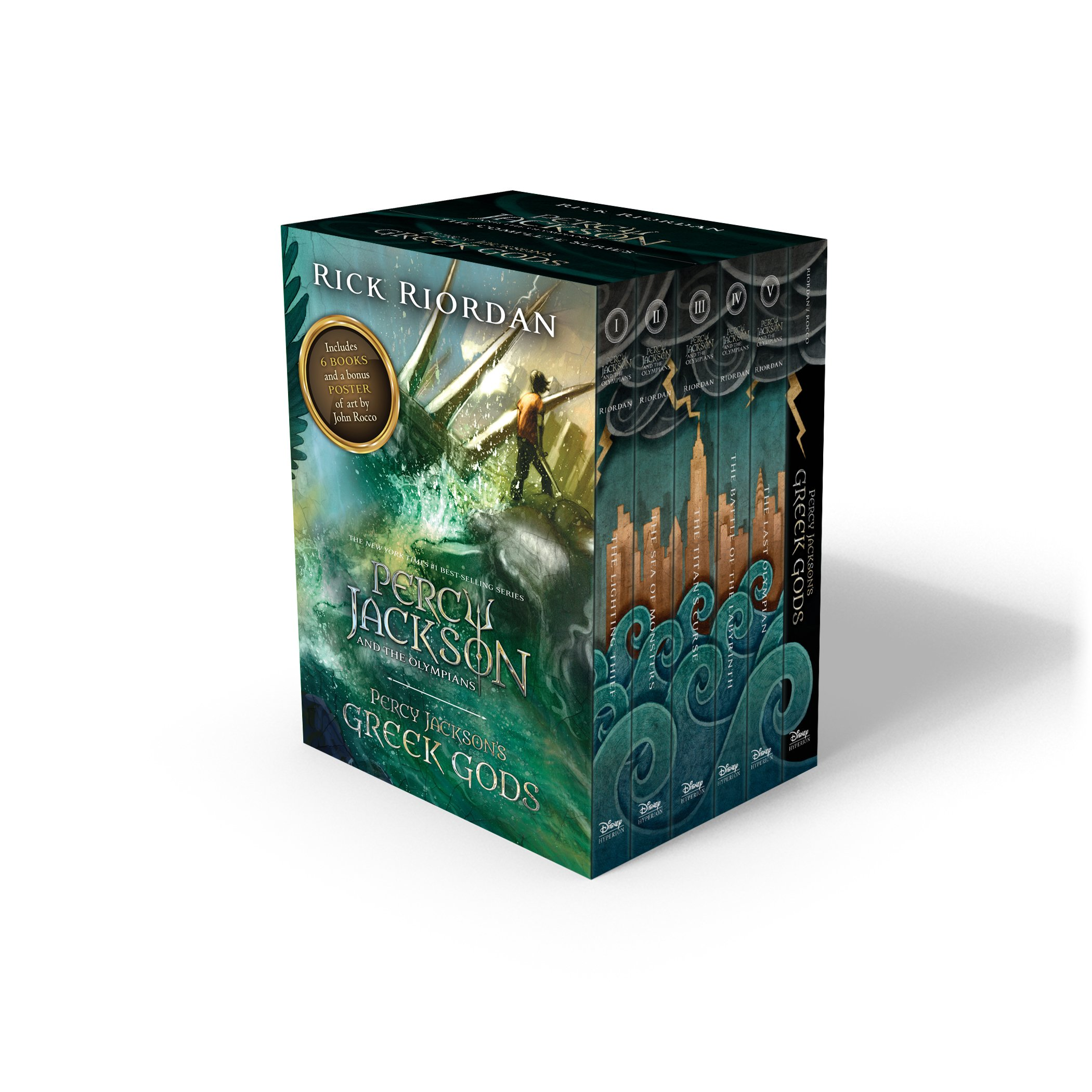 Percy Jackson and the Olympians Complete Series and Percy Jacksons Greek Gods Boxed Set Paperback Jan 01, 2016 Rick Riordan and John Rocco: Amazon.es: Libros