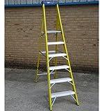 6 Tread Catwalk S400 Fibreglass Platform Step Ladder