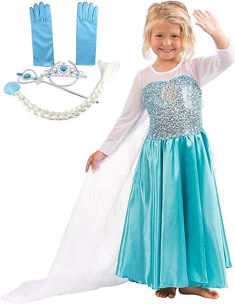 Katara - Vestido de princesa Elsa de Frozen traje de disfraz con ...