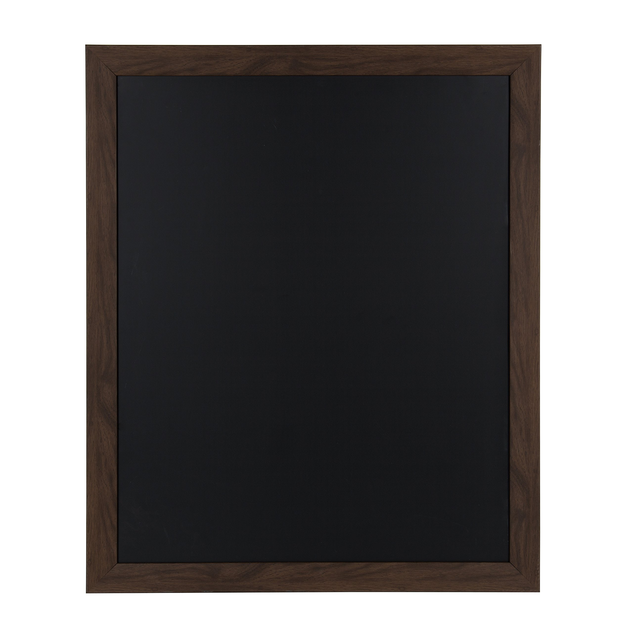 DesignOvation Beatrice Framed Magnetic Chalkboard, 27x33, Walnut Brown by DesignOvation