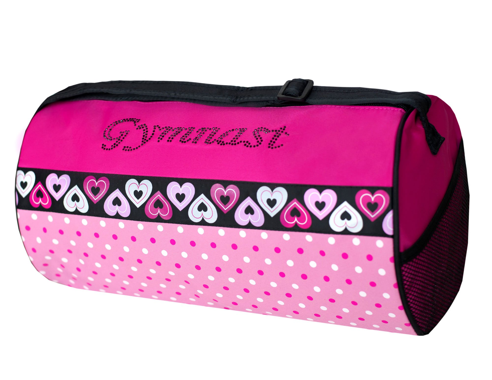 Sassi Designs Dots & Hearts Gymnast Duffel Bag