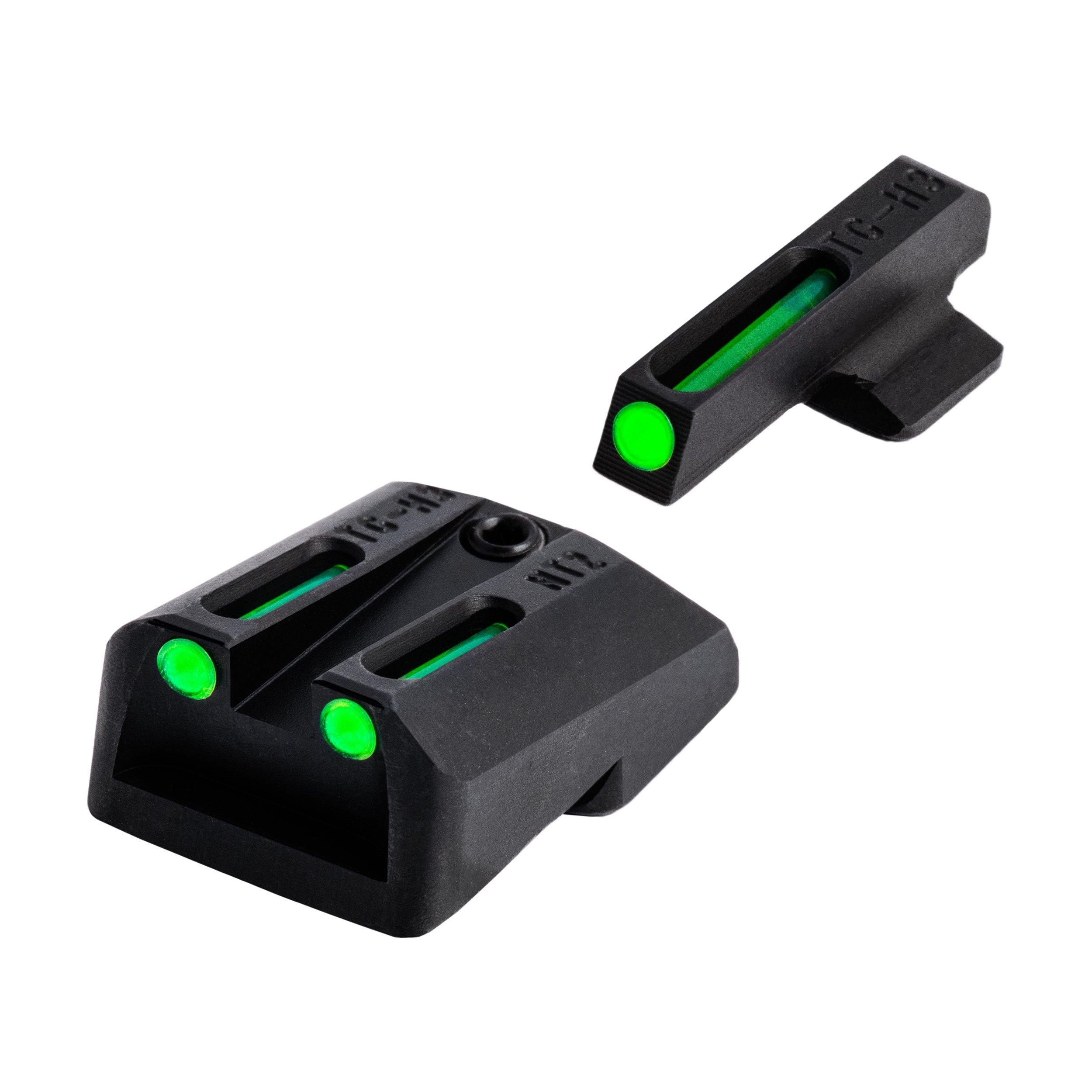 TRUGLO TFO Handgun Sight Set - Fits Novak LoMount Cut .260/.500
