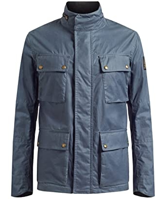 00c0dd3f3d Belstaff - Explorer Wax Jacket, Blue Flint, 56: Amazon.co.uk: Clothing