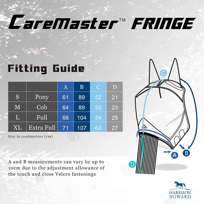 Harrison Howard CareMaster Horse Fly mask with Ears and Nose Fringe Amethyst