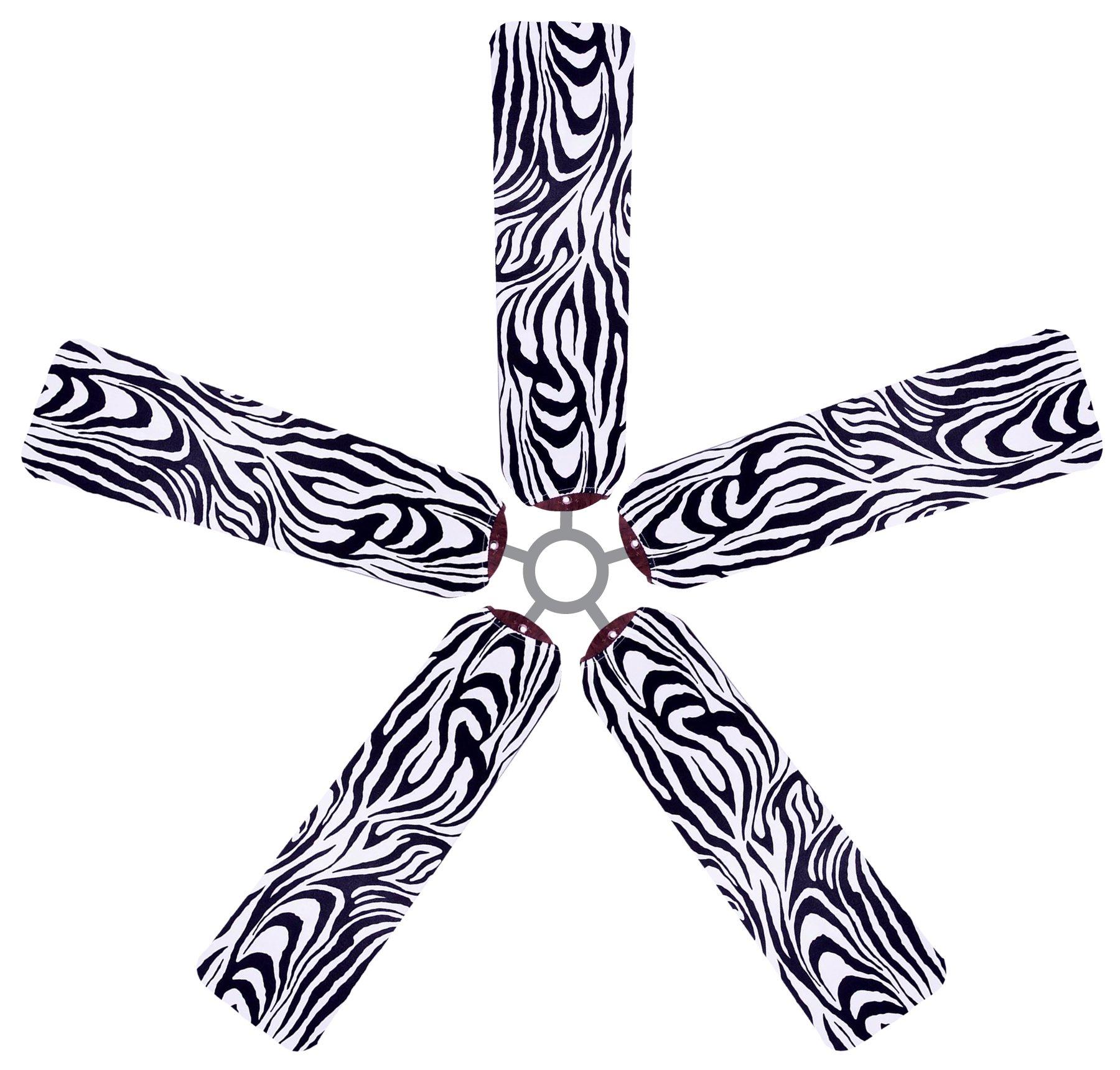Fan Blade Designs Zebra Ceiling Fan Blade Covers