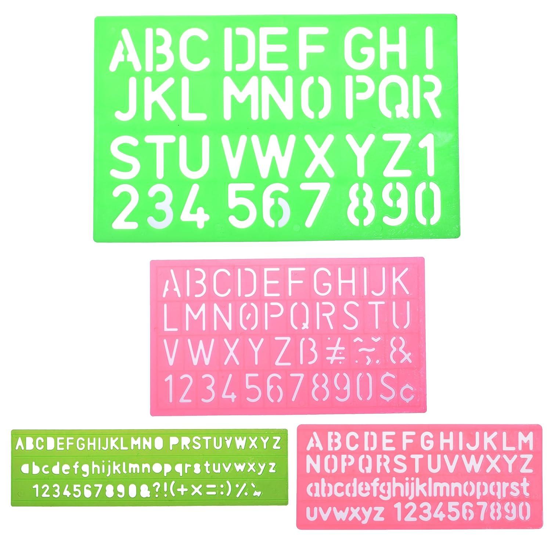 Amazon.com: BCP 4pcs Assorted Colors Plastic Letter and Alphabet ...