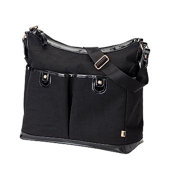 0766b6acb2e0d OiOi 2 Pocket Hobo Diaper Bag - Black Ballistic
