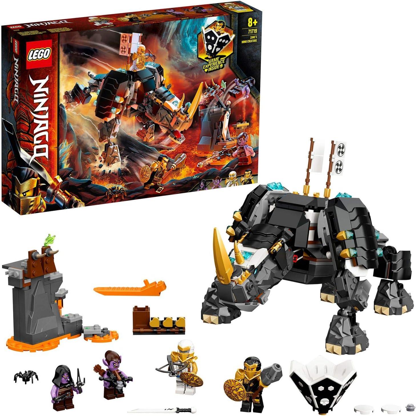 Ninjago TV Series Criatura Mino de Zane2en1Set de Construcción y Juego de Mesa, multicolor (Lego ES 71719)