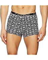 Calvin Klein ID Reverse Logo Print Men's Boxer Trunk, Black