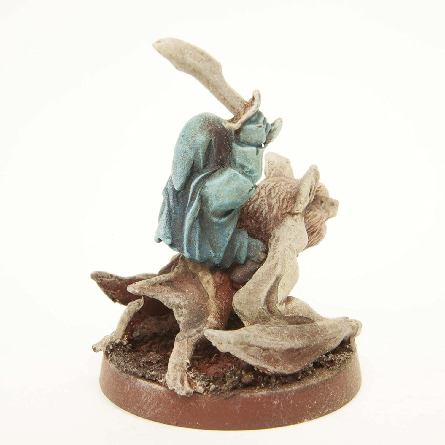 Made in USA Stonehaven Shrouded Figure on Bat Mount Miniature Figure for 28mm Scale Table Top War Games