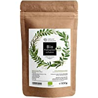 Bio Flohsamenschalen - Premium Qualität: Laborgeprüft, 99+% Reinheit, zertifiziert Bio. Vegan. Low-Carb. Ballaststoffreich. Glutenfrei. Ohne Zusätze. Nachhaltig angebaut - 500g Beutel