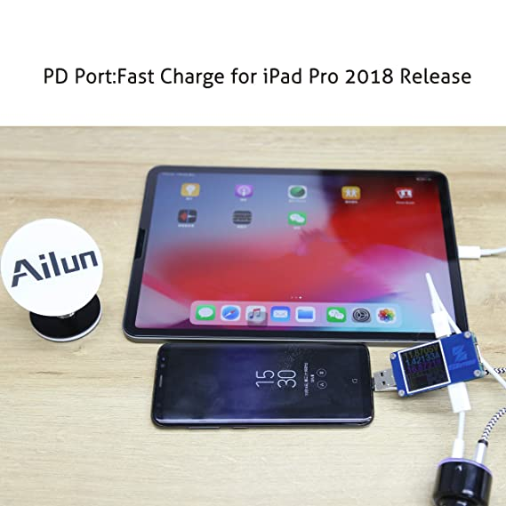 Amazon.com: Ailun - Cargador de coche para iPhone X, 8/7 ...