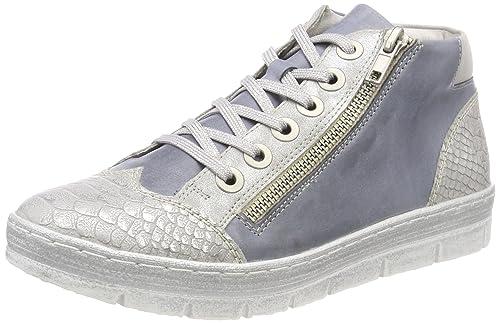 D5873, Zapatillas Altas para Mujer, Azul (Shark/Jeans/Silber), 36 EU Remonte