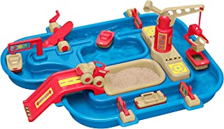 product image for American Plastic Toys Kids' Sand and Water Playset, One-Piece Industrial Waterway with Wave Maker and Sandpit, 360-Degree Rotating Crane, Fun Outdoor Toy for Little Industrialists, for Kids 18 Months+