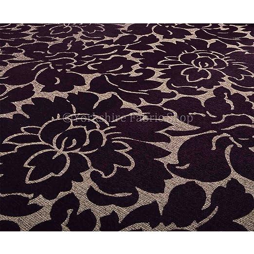 Yorkshire Fabric Shop Exclusiva Tela Color Morado Floral ...