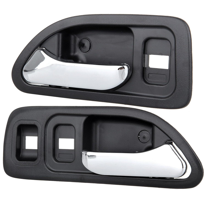 SCITOO Door Handles 2Pcs Chrome Black Interior fit 1994-1997 Honda Accord Front Right Left Side