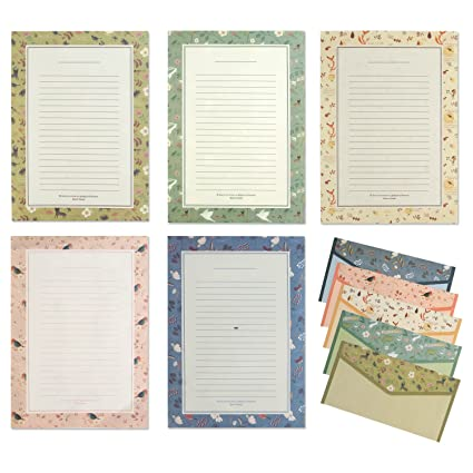 Amazon Com Imagicoo 48 Cute Lovely Writing Stationery Paper Letter