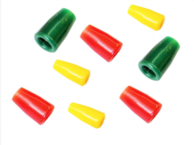 20 assorted size//colour pole elastic connectors